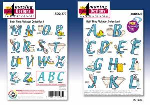 Amazing Designs / Great Notions 1370 Bath Time Alphabet Collection I Multi-Formatted CD