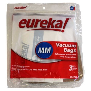 Eureka E-60295 Paper Bags 3 Pk, Euro Style MM for Mighty Mite 3100, 3600, 3650, 3670, 3680, 3690, 3695 Series