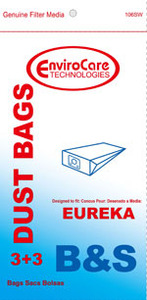 Eureka Replacement Er-14025 Paper Bag, Eur Style B&S 1700/3700 Env 3Pk