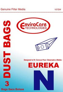 Eureka Replacement Er-14145 Paper Bag, Eureka N Env  3/Pk