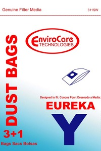Eureka Replacement Er-14255 Paper Bag, Style Y Excal-Ibur Env 3+1 Pk
