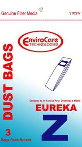 Eureka Replacement Er-14265 Paper Bag, Style Z Uprt  Ultra Env 3Pk