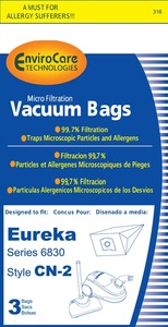 Eureka Replacement Er-1427 Paper Bag, Cn2 Micro W/Enclosure Env 3Pk