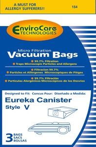 Eureka Replacement Er-1452 Paper Bag, Eur Style V   Microfilter Env 3Pk