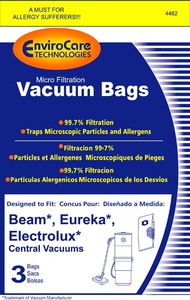 Eureka Replacement Er-1456 Paper Bag, Central Vac   Beam/Eureka/Lux Env 3Pk