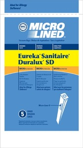 Eureka Replacement Er-1494 Paper Bag, Type Sd Micro Eureka/Sanitaire Dvc 5Pk
