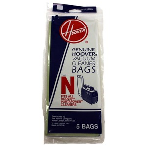 Hoover 4010038N Paper Bag, Type N Porta- Power 5Pk