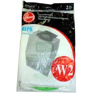 Hoover 401080W2 Paper Bag, Type W2 Hepa  Windtunnel2 2 Pk