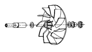 Kirby K-119092 Fan, Lexan 6Pc for G3 G4 G5 G6 Ug De Sentria Vacuums