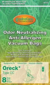 Oreck Or-1437A Paper Bag, Cc Allergen   Cloth Charcoal Env 8Pk
