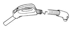 Panasonic P-40473 Hose, Elec 3 Way Switch  3X2 Wire Gas Pump 7' Gray