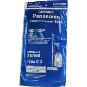 Panasonic P-Mc125P Paper Bags 3Pk, for Type C3 Canisters, Except 7080/7190