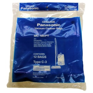 Panasonic P-Mc125Pt Paper Bags 12Pk, for Type C3 Canisters, Except 7080/7190