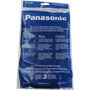 Panasonic P-Mc155M Paper Bag, Pan Style U12 3/Pk
