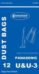 Panasonic Replacement Pr-1410 Paper Bags, 12Pk, Pano Type U/U3 Upright Env