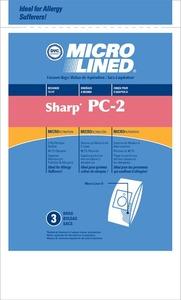 Sharp Shr-1445 Paper Bag, Pc-2 Canister Micro Filtration Dvc 3Pk