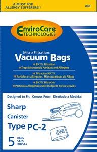 Sharp Shr-14455 Paper Bag, Sharp 63/7311 Can Env 5Pk