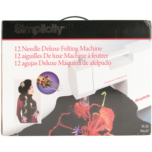 Simplicity Deluxe 12 Needle Punch Felting Machine, Foot Pedal, Use 1-12 Barbed Needles Punch, Embellish Garments Fabrics Meshing Silk, Ribbon, Crafts