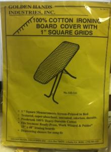 "Golden Hands GH-121/122 15x45-48"" Ironing Board Cover 1"" Grids, Drawstring"