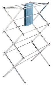 Polder Standing Accordion Drying Rack, Chrome