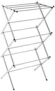 Polder Compact Accordion Clothes Drying Rack Chrome