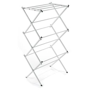Polder Compact Accordion Clothes Drying Rack, White