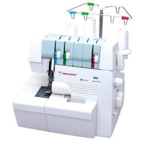 Dragonfly Gemsy DF858 Freearm Cover Hem Stitch Interlock Sewing Machine, 2 Needles, 4mmWide