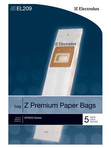 Electrolux EL209-4 Z Style premium paper dustbags 5 Paper bags Fits: EP9020 Series