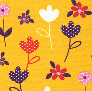 Fabric Finders FF1229 Purple And Gold Floral Print 15 Yd Bolt 9.34 A Yd 100% Cotton 60""