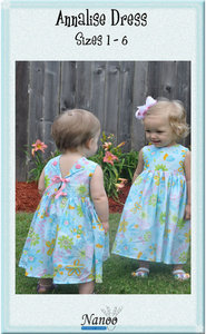 Nanoo Designs Annalise Dress Pattern Sizes 1-6