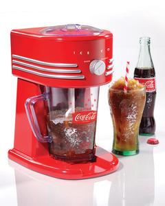 Nostalgia Electrics Coca-Cola Series FBS400COKE Frozen Beverage Maker, Fine to Coarse Shaved Ice, Slush Margaritas Daiquiris Smoothies Drink Machine