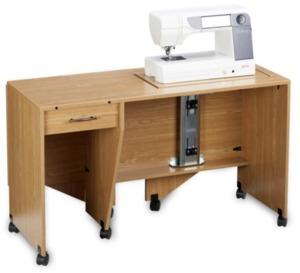 Shown in Castle Oak (sewing machine not included)