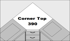 Sylvia 390 Connecting Corner Top Accessory