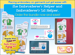 37937: DIME EH0003 Embroiderers Helper and Little Helper Placement Rulers Bundle Save