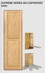 """38535: Hideaway 400 Solid Oak Door In Wall Mount 42"""" Ironing Board 180° Swivel"""
