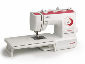 Simplicity Brother SB530T Simply Elegant 53 Stitch Freearm Mechanical Sewing Machine, 1-Step Buttonhole, Extension Table, Top Drop In Bobbin, 5 Feet