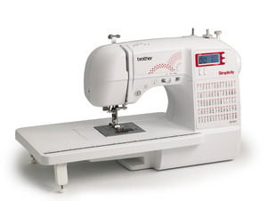 62086: Simplicity Brother Demo SB700T Simply Brilliant 70 Stitch Computer Sewing Machine +Ext Table