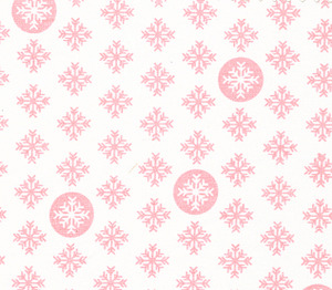 Fabric Finders 15 Yd Bolt 9.34 A Yd  1291 Pink Snowflakes Print 100 Percent Pima Cotton Fabric 60 inch