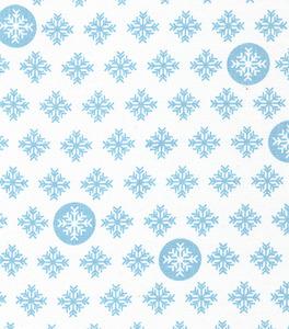 Fabric Finders 15 Yd Bolt 9.34 A Yd 1287 Blue Snowflakes Print 100 Percent Pima Cotton Fabric 60 inch