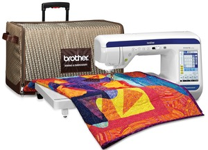 "Brother VQ3000 Trade In Dream Weaver 11.25"" Arm Quilt Sew Machine, Sonic Pen, Laser Straight Stitch Guide, Muvit Even Feed Foot, Ext. Table, Warranty"