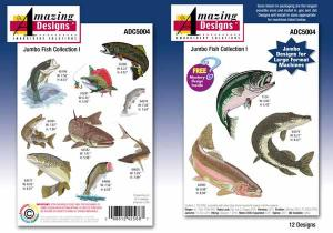 Amazing Designs / Great Notions  5004 Jumbo Fish Collection I Multi-Formatted CD