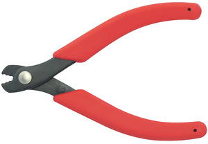 "Clauss 20033 5.75"" Microsized ""Snapper"" Wire Cutters with Round Points and Steel Jaw Blades with Soft Cushion Grips"