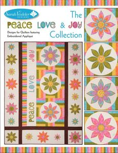 Sarah Vedeler PLJ-01 Peace Love & Joy Embroidery Design Collection CD