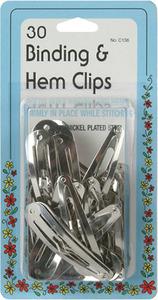 Collins W-136  Binding & Hem Clips 30 Clips