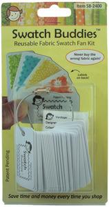 Swatch Buddies SB-2400  Fabric Fan, 24 pack