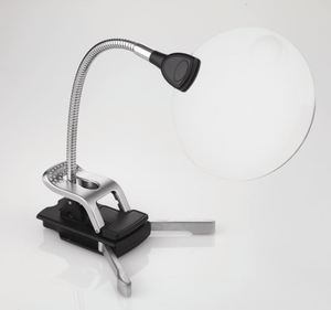 "39157: Daylight UN1161 Flexilens Base, Clip, LED Light, 4.5"" Lens Magnifier"
