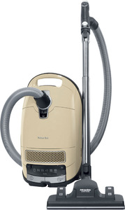 Miele Complete C3 Alize HEPA Air Clean Canister Vacuum Cleaner +SBD 650-3 AirTeQ Non Electric Floor Brush, 6 Foot Switch Speeds, Spotlight Handle