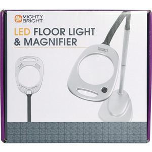 Mighty Bright MB67112 Magnifier Floor Standing Lamp Light 12 LED Bulbs