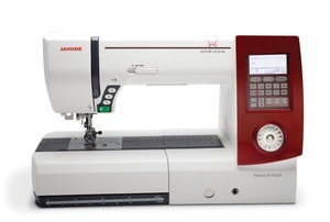 "Janome Horizon, 7700, QCP, DEMO, Horizon, 11"" Arm, Acu-Feed, Walking Foot, 600 Stitches, Sewing, Quilting ,Alpha Numeric,lettering, Machine, Auto, SS&ZZ, Needle Plate Hole,  1000 SPM"