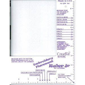 4901: Creative Notions ABC Embroiderers Little Buddy Template Placement Ruler